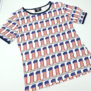 Harley Davidson Museum T-Shirt USA Patriotic Mediu